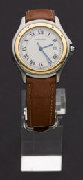 Timepieces:Wristwatch, Cartier Steel Quartz Wristwatch. ...