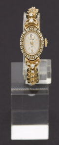 Timepieces:Wristwatch, Hamilton Gold & Diamond Wristwatch. ...