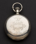 Timepieces:Pocket (pre 1900) , Illinois 4 Ounce Silver 18 Size Key Wind Pocket Watch. ...