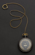 Timepieces:Pocket (post 1900), Swiss 15 Jewel Digital Pocket Watch. ...