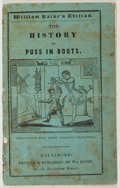 Books:Children's Books, [Hand-Colored Engravings]. William Raine. The History of Puss InBoots. Raine, n. d. Twelvemo. Publisher's wrappers....