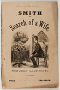 Books:Americana & American History, Bricktop. Smith in Search of a Wife. Collin, 1881. Presumedfirst edition. Publisher's wrappers. Cover detached. Fai...