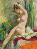 Pin-up and Glamour Art, EDWIN GEORGI (American, 1896-1964). Seated Nude. Pastel onboard. 24.5 x 18.5 in.. Not signed. ...