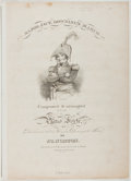 Books:Americana & American History, [Sheet Music]. J. T. Norton. Major Jack Downing's March.Childs & Lehman, ca. 1833. Quarto. Publisher's wrappers...