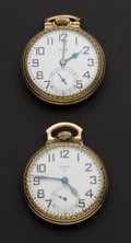 Timepieces:Pocket (post 1900), Two Elgin 15 & 17 Jewel Pocket Watches Runners. ... (Total: 2Items)