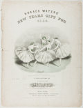 Books:Music & Sheet Music, [Sheet Music]. Van der Weyde. The Gift Schottish. Waters, 1853. Quarto. Publisher's wrappers. Covers detached. F...