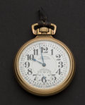 Timepieces:Pocket (post 1900), Illinois Rare Dial Marked 23 Jewel 60 Hour Bunn Special - MovementIs Marked 21 Jewel. ...