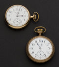 Timepieces:Pocket (post 1900), Two Private Labels Hamilton 17 Jewel & Illinois Monarch Pocket Watches Runners. ... (Total: 2 Items)