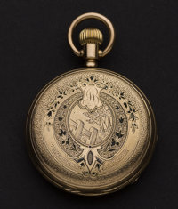 Swiss Gold & Enamel Pocket Watch