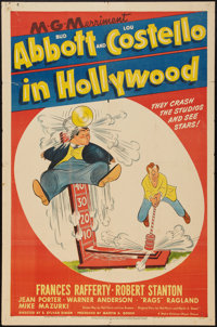 """Abbott and Costello in Hollywood (MGM, 1945). One Sheet (27"""" X 41""""). Comedy"""
