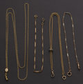 Timepieces:Watch Chains & Fobs, Four Gold Filled Pocket Chains. ... (Total: 4 Items)