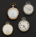 Timepieces:Pocket (post 1900), A Lot Of Four Pocket Watches . ... (Total: 4 Items)