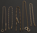 Timepieces:Watch Chains & Fobs, Five Gold Filled Watch Chains. ... (Total: 5 Items)