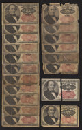 Fractional Currency:Fifth Issue, Nineteen 25¢ Fifth Issue Notes Poor-Very Good.. ... (Total: 19 notes)