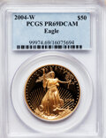 Modern Bullion Coins, 2004-W $50 One-Ounce Gold Eagle PR69 Deep Cameo PCGS. PCGSPopulation (807/137). NGC Census: (552/584). Numismedia Wsl. Pr...