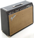 Musical Instruments:Amplifiers, PA, & Effects, 1965 Fender Vibrolux Reverb Black Guitar Amplifier, Serial #A01723....