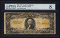 Large Size:Gold Certificates, Fr. 1187* $20 1922 Gold Certificate Star PMG Very Good 8.. ...
