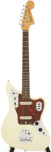 Musical Instruments:Electric Guitars, 1963 Fender Jaguar White Solid Body Electric Guitar, Serial #99786....