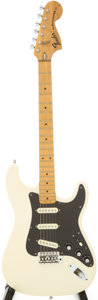 Musical Instruments:Electric Guitars, 1974 Fender Stratocaster White solid Body Electric Guitar, Serial #363358....