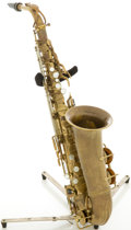 Musical Instruments:Horns & Wind Instruments, 1934 Selmer Radio Improved Brass Alto Saxophone, Serial # 19329....