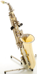Musical Instruments:Horns & Wind Instruments, 1950s Grafton White Alto Saxophone, Serial # 12671....