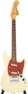 Musical Instruments:Electric Guitars, 1966 Fender Mustang Olympic White Solid Body Electric Guitar,Serial # 198098....