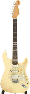Musical Instruments:Electric Guitars, 1991 Fender Jeff Beck Stratocaster White Solid Body ElectricGuitar, Serial # N1022448....