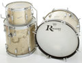Musical Instruments:Drums & Percussion, Circa 1960's Rogers Tower Model Silver Sparkle Drums, #1107....