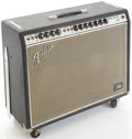 Musical Instruments:Amplifiers, PA, & Effects, Circa 1969 Fender Twin Reverb Silverface Guitar Amplifier,#A15158....