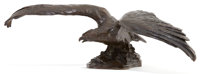 HARRIET WHITNEY FRISHMUTH (American, 1880-1980) Eagle on a Rock Bronze with brown patina 8 x 23 i