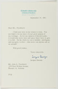 Autographs:Authors, Jacques Barzun (1907- American Historian). Typed Letter Signed.Fine....