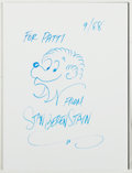 Autographs:Authors, [Berenstain Bears]. Stan Berenstain. Signed Original Drawing.Fine....