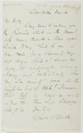 Autographs:Authors, Charles W. Elliott (1817-1883, American Writer). Autograph LetterSigned. Very good....