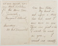 Autographs:Authors, Margaret Deland (1857-1945, American Writer). Autograph Letter Signed. Very good....