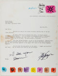Autographs:Artists, DeGrazia (1909-1982, American Artist). Typed Letter Signed. Verygood....