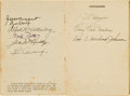 Autographs:Others, 1936 New York Yankees & Chicago White Sox Autographs withGehrig, DiMaggio....