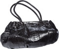 Luxury Accessories:Bags, Carlos Falchi Large Black Waxed Python Doctor's Bag . BenefittingLeukemia & Lymphoma Society . ...