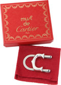"Estate Jewelry:Other , Must de Cartier Sterling Silver ""C"" Shaped Money Clip . Benefitting Leukemia & Lymphoma Society. ..."