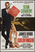 "Movie Posters:James Bond, Goldfinger (United Artists, R-1975). Spanish One Sheet (27"" X 39""). James Bond.. ..."