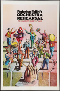 "Orchestra Rehearsal (New Yorker Films, 1978). One Sheet (27"" X 41""). Drama"