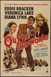 "Out of This World (Paramount, 1945). One Sheet (27"" X 41""). Musical"