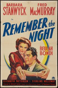 """Remember the Night (Paramount, 1940). One Sheet (27"""" X 41""""). Comedy"""