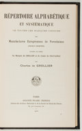 Books:Furniture & Accessories, Charles de Grollier. Repertoire Alphabetique et Systematique. Picard, 1914. No dust jacket. Text in French. Very goo...