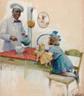 Mainstream Illustration, SUSAN E. ARTHURS (American, 20th Century). A Visit With Chef,Cream of Wheat Advertisement, 1911. Oil on board. 27.25 x ...