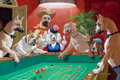 Mainstream Illustration, ARTHUR SARON SARNOFF (American, 1912-2000). Playing Craps.Oil on board. 20 x 30 in.. Signed lower right. From the E...