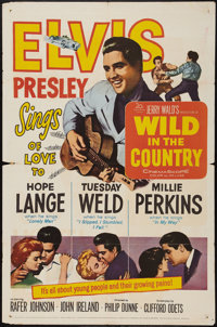 """Wild in the Country (20th Century Fox, 1961). One Sheet (27"""" X 41""""). Elvis Presley"""