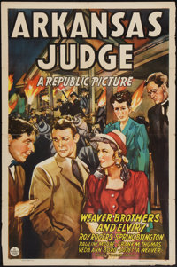 """Arkansas Judge and Other Lot (Republic, 1941). One Sheets (2) (27"""" X 41""""). Drama. ... (Total: 2 Items)"""