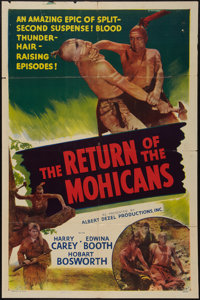 """The Last of the Mohicans & Other Lot (Albert Dezel, R-1948). One Sheets (2) (27"""" X 41""""). Serial. Edite..."""