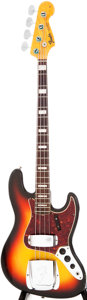 Musical Instruments:Bass Guitars, 1967 Fender Jazz Bass Sunburst Electric Bass Guitar, #189225....