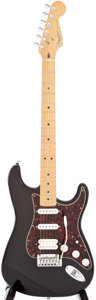 Musical Instruments:Electric Guitars, 1997 Fender Stratocaster Fat Strat Black Solid Body electricguitar, Serial # N7309087....
